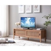 CORTENA Meuble TV 2 portes - Décor chene Beauford - L 138 cm
