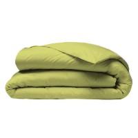 COTE DECO Housse de couette 100% coton 140x200 cm - Vert anis