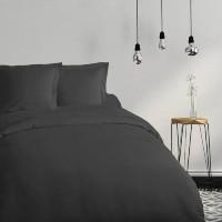 COTE DECO Housse de couette 100% coton 220x240 cm - Noir