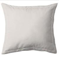 COTE DECO Taie d'Oreiller 100% coton 63x63 cm - Beige ficelle