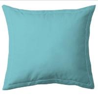 COTE DECO Taie d'Oreiller 100% coton 63x63 cm - Bleu turquoise