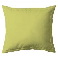 COTE DECO Taie d'Oreiller 100% coton 63x63 cm - Vert anis
