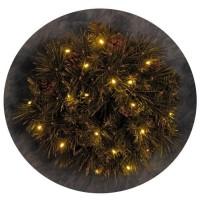 Couronne de Noël lumineuse décorée 20 LEDs - Ø 40 cm - Blanc chaud