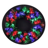 Couronne de Noël lumineuse Las Vegas 60 LEDs - 60 branches - Ø 45 cm - Base verte