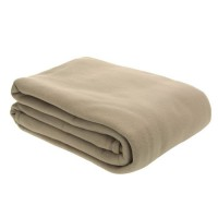 Couv. Polaire 350g/m2 TAUPE 180x220cm