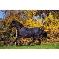 COVALLIERO Couverture cheval outdoor RugBeZero.1 - 145 cm - Noir et rouge