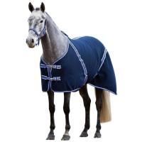 COVALLIERO Couverture cheval RugBe Classic - 125 cm - Bleu et lilas