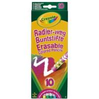 Crayola - 10 crayons de couleur effaçables - Coloriage