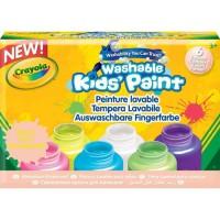 Crayola - 6 pots de peinture fluo lavable - Peinture et accessoires