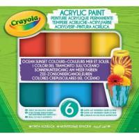 Crayola - Acrylic Paint - Couleurs Mer et Soleil - Peinture et accessoires