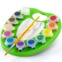 Crayola - Palette de peinture lavable réutilisable - Peinture et accessoires