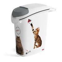 CURVER Conteneur a croquettes empilable Love pets 10 Kg - Blanc - Pour chat