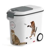 CURVER Conteneur a croquettes Love pets 12 Kg - Blanc - Pour chat