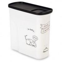 CURVER Conteneur de nourriture Le Diner est servi - 1 kg - 2 L - Blanc et noir - Pour chien