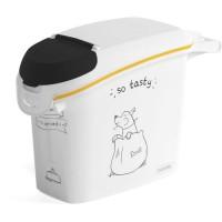 CURVER Conteneur de nourriture Le Diner est servi - 6 kg - 15 L - Blanc et noir - Pour chien