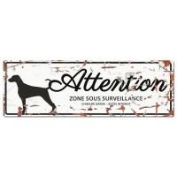 D&D Plaque Attention Chien Dalmatien - Blanc