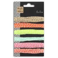 D.I.Y with Toga Lot de 6 ficelles bicolore 5m - nuance pastel