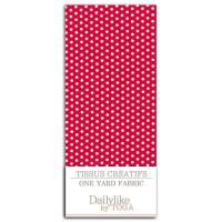 Dailylike Coupon 110x90cm -Rouge pois blanc