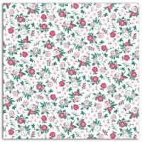 DAILYLIKE Coupon Coton 110x90 cm - Fleurette Fuchsia Rose