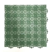 D-C-FLOOR Lot de 7 dalles de sol en polypropylene 1m² - 38 x 38 cm - Vert