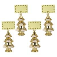 Décoration de Noël : Set de 4 porte-noms sapin - H 15 cm - Or