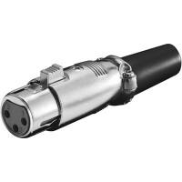 prise microphone, 3-pins mécanisme de verrouillage + vissé pull-relief