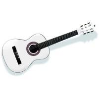 DELSON Guitare classique 1/8 Cordoba blanche