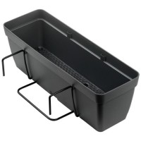 DEROMA Kit de Jardiniere Enjoy a réserve d'eau - 9,6 L - 50 x 16,1 x H 16 cm - Noir anthracite