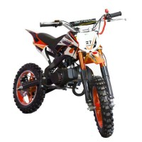 DIRT BIKE Mini moto 50 cc 2 Temps Enfant - Orange - Livrée Prete a Rouler