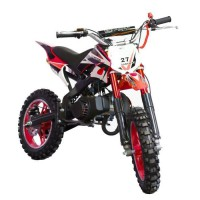 DIRT BIKE Mini moto 50 cc 2 Temps Enfant - Rouge - Livrée Prete a Rouler