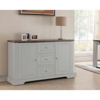 DESSY Buffet classique décor blanc mat - L 139 cm