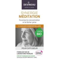 DEVINEAU Huile essentielle pour diffuseur - Parfum d'ambiance 100% biologique - 10 ml - Synergie méditation