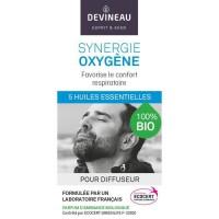 DEVINEAU Huile essentielle pour diffuseur - Parfum d'ambiance 100% biologique - 10 ml - Synergie oxygene