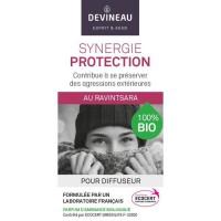 DEVINEAU Huile essentielle pour diffuseur - Parfum d'ambiance 100% biologique - 10 ml - Synergie protection au ravintsara