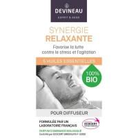 DEVINEAU Huile essentielle pour diffuseur - Parfum d'ambiance 100% biologique - 10 ml - Synergie relaxante