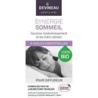 DEVINEAU Huile essentielle pour diffuseur - Parfum d'ambiance 100% biologique - 10 ml - Synergie sommeil