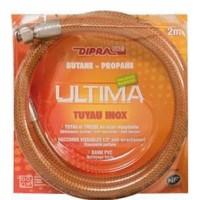 DIPRA Flexible inox vitagaz butane/propane NF 2m - écrous 20/150 - Durée illimitée