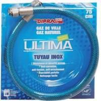 DIPRA Flexible inox vitagaz gaz naturel NF 2m - écrous 15/21 - durée illimitée