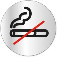Disque indicateur Défense de fumer - Aluminium adhésif - Ø 80 mm
