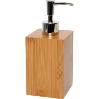 Distributeur a savon carré - Bambou - H18 x l7,2 x P7,2 cm