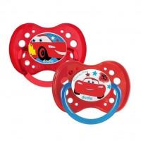DODIE 2 Sucettes anatomiques Duo A69 - 18 mois+ - Disney Cars