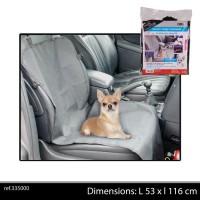 DOGI Couvre siege de voiture 53x116 cm - Noir - Pour chien