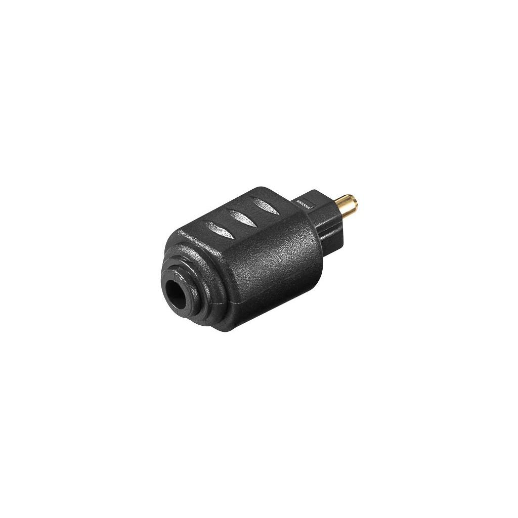 11826 a 005 adaptateur audio 3 5 mm mini jack c ble optique toslink connecteur fibre optique. Black Bedroom Furniture Sets. Home Design Ideas