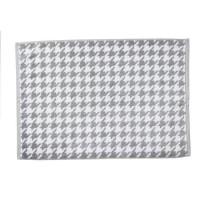 DONE Tapis de bain Daily Shapes Bird - 50x70 cm - Argent et blanc