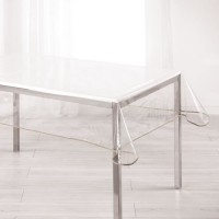 DOUCEUR D'INTERIEUR Nappe Décor line cristal Garden 140x240 cm taupe
