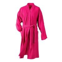 DOUCEUR D'INTERIEUR Peignoir kimono éponge 100% coton Vitamine fuchsia