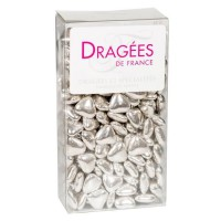 DRAGEES DE France - Petits Coeurs Chocolat - Argent 250G