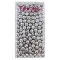 DRAGEES DE FRANCE Perles de chocolat aux céréales - Argentées - 250 g