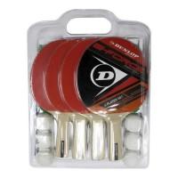 DUNLOP Set de tennis de table G Force Match 4 Joueurs 4 raquettes + 6 balles + 1 filet et poteaux