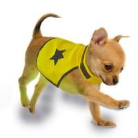 DUVO Gilet de sécurité réfléchissant - 40 cm - Jaune fluo - Pour chien
